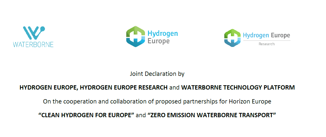 Joint Declaration Hydrogen Europe, Hydrogen Europe Research and Waterborne Technology Platform