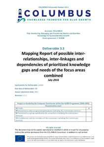 D3.3 - Mapping Report of possible interrelationships, inter-linkages and dependencies of prioritized