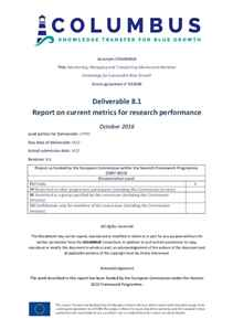 D8.1 - Report on current metrics for research performance