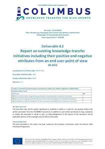 D8.2 - Report on existing knowledge transfer initiatives including their positive and negative attri