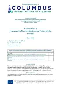 D5.2 - Progression of Knowledge Outputs To Knowledge Transfer