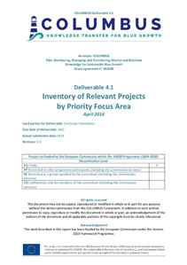 D4.1 - Inventory of Relevant Projects by Priority Focus Area