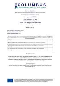 D7.5 - Blue Society Award Rules