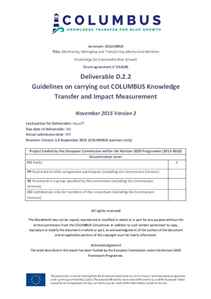 D2.2 - Guidelines on carrying out COLUMBUS Knowledge Transfer and Impact Measurement