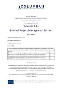 D2.1 - Internal Project Management System