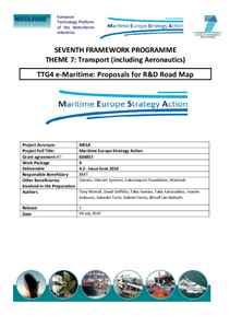 D4.2 - e-Maritime: Proposals for R&D Road Map