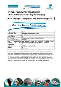 D6.3 - EU maritime research roadmap