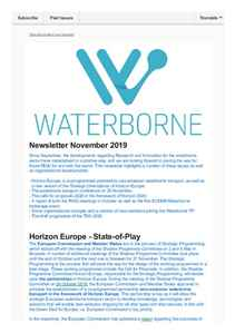 Waterborne Newsletter November 2019