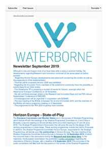 Waterborne Newsletter September 2019